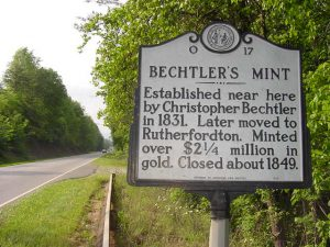 Bechtler's Mint minted much of the gold from Golden Valley